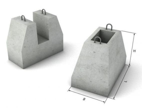 Стакан бетонный